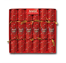 Arsenal 6 Pack of Christmas Crackers