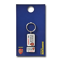Arsenal Street Sign Keyring and Badge Set