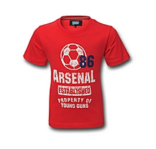 Arsenal Kids 1886 T-Shirt (2-7yrs)