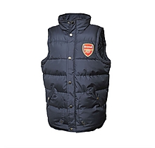 Arsenal Junior Hooded Puffa Gilet