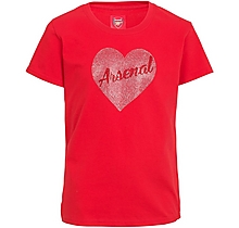 Arsenal Kids Heart Rhinestone T-Shirt (2-13yrs)