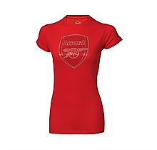 Ladies Arsenal Crest Rhinestone T-Shirt