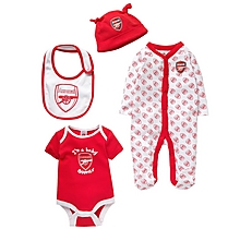 Arsenal 4 Piece Babygrow Kit Set