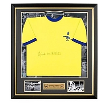 Arsenal Framed Signed Frank McLintock 1971 Away Shirt