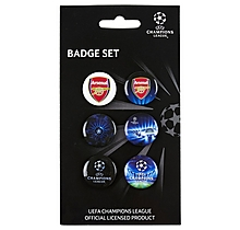 Arsenal Champions League 5 Pk Badge Set