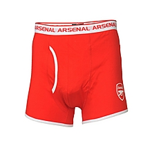 Arsenal Adult 2pk Red/White Boxers