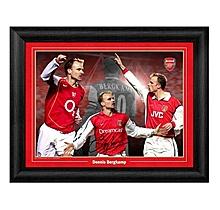 Dennis Bergkamp Arsenal Montage Print