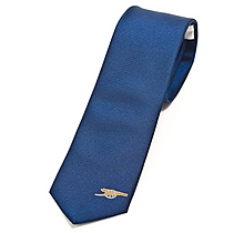 Arsenal Mens Navy Skinny Tie