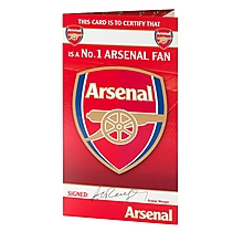 Arsenal Certificate Card
