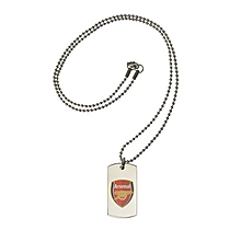 Arsenal Coloured Crest Tag & Ball Chain