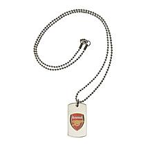 Arsenal Coloured Crest Tag & Ball Chain