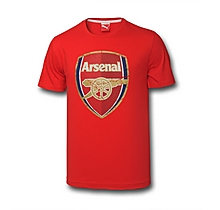 Arsenal Kids Puma Crest T-Shirt (5-14yrs)