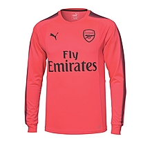Arsenal Junior 17/18 Pink Goalkeeper Shirt