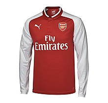 Arsenal Junior 17/18 Long Sleeved Home Shirt
