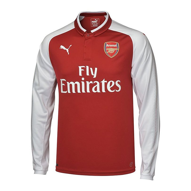 on sale 90e53 a68b9 Arsenal 17/18 Kid's LS Home Shirt | Official Online Store