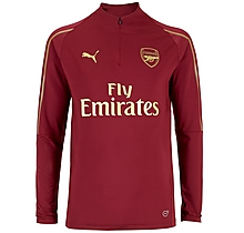 Arsenal Junior 18/19 Red 1/4 Zip Training Top