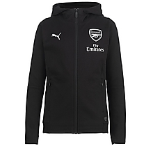 Arsenal Junior 18/19 Casual Performance Black Zip Hoody