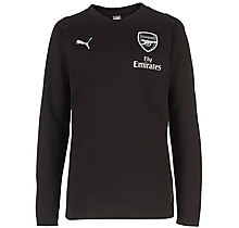 Arsenal Junior 18/19 Casual Performance Black Sweatshirt