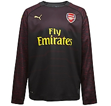 5c0589d8691 Arsenal Junior 18 19 Black Goalkeeper Shirt