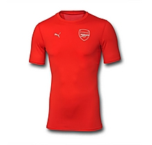 Arsenal Base Layer Red Short Sleeve Shirt