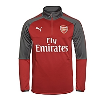 Arsenal Adult 17/18 1/4 Zip Home Training Top