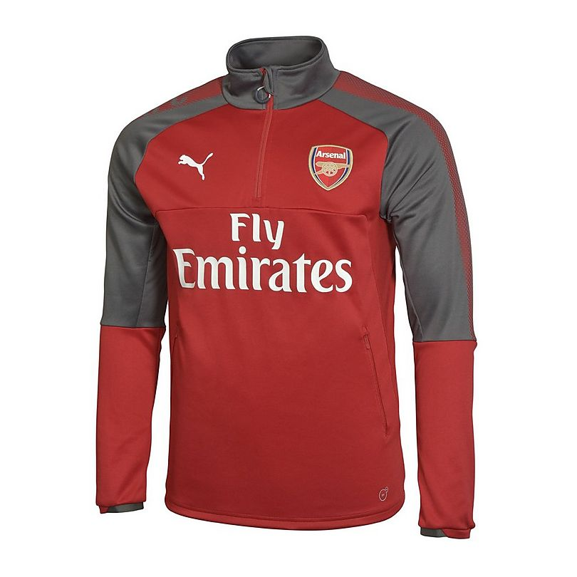 arsenal adult 17 18 1 4 zip home training top