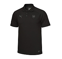 Arsenal 17/18 Casual Performance Black Polo Shirt