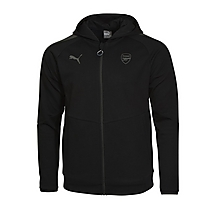 Arsenal 17/18 Casual Performance Black Zip Hoody