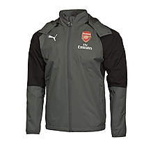 Arsenal Adult 17/18 Grey Performance Rain Jacket