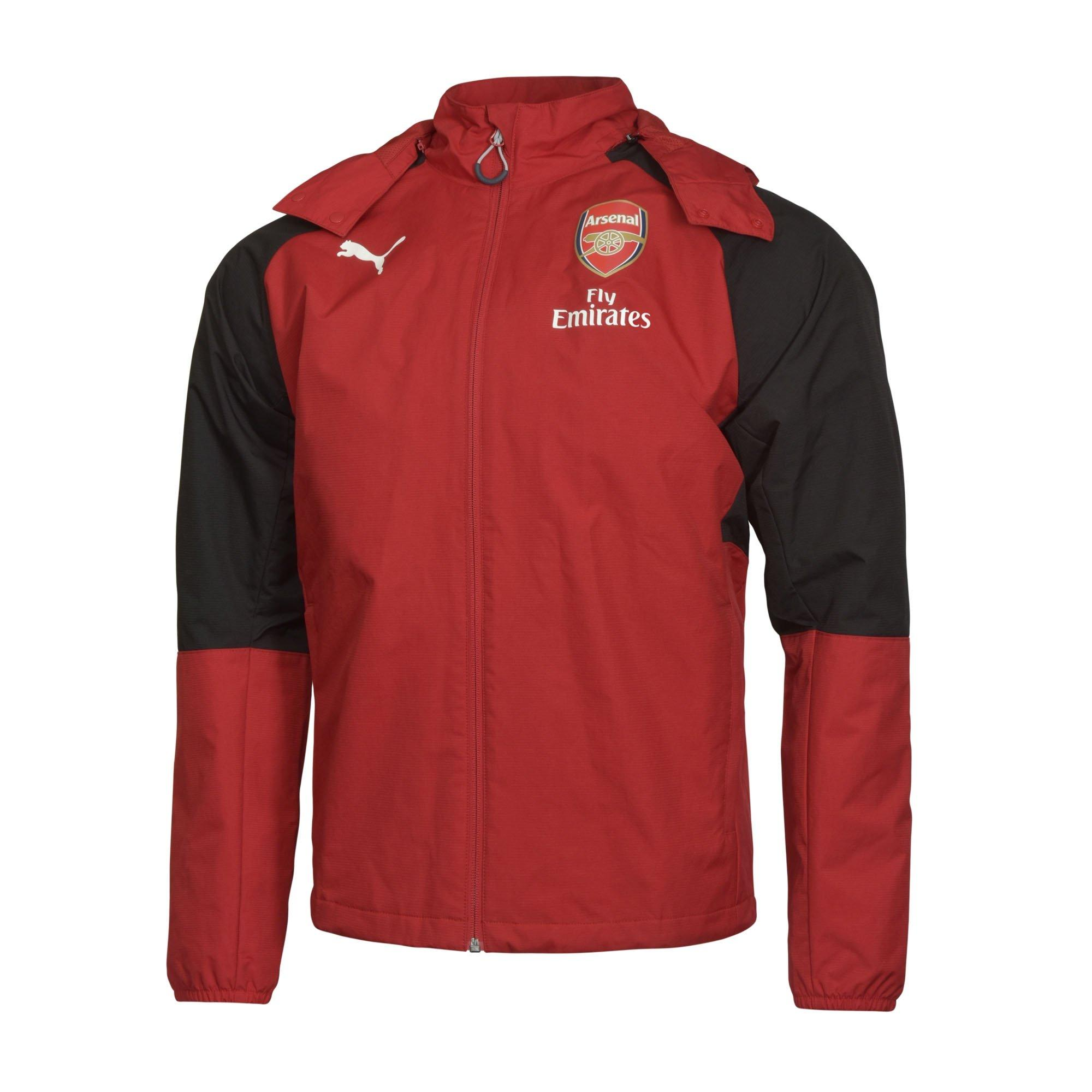 Arsenal Adult 17/18 Red Performance Rain Jacket