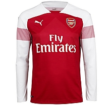 8cc6ef5e5 Arsenal Adult 18 19 Long Sleeved Home Shirt