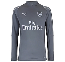 Arsenal 18/19 Grey 1/4 Zip Training Top
