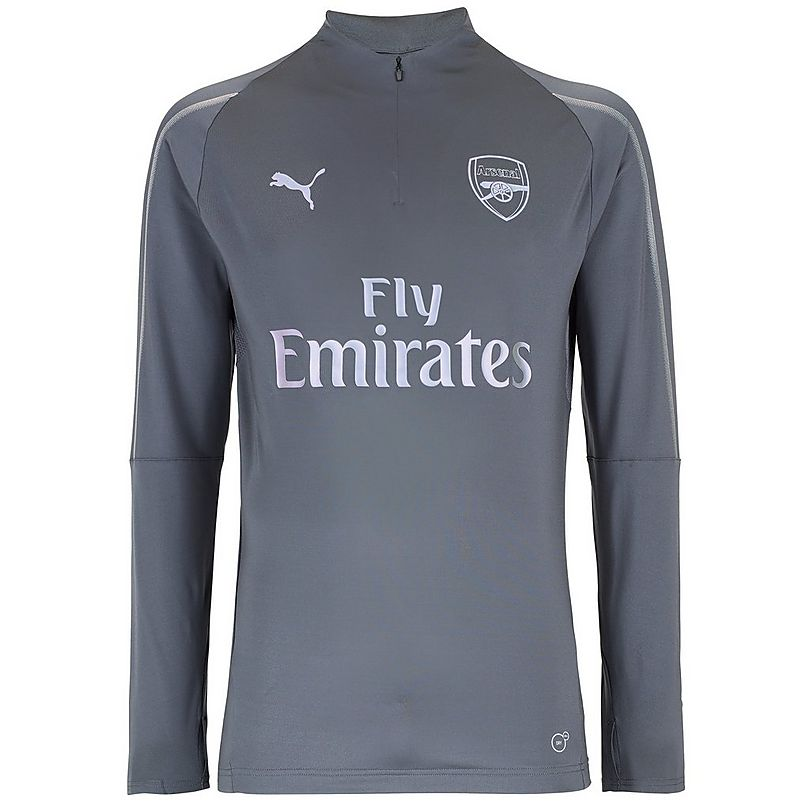 28751606a Arsenal 18 19 Grey 1 4 Zip Training Top