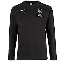 Arsenal 18/19 Casual Performance Black Sweatshirt