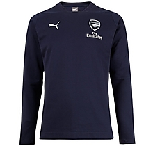 Arsenal 18/19 Casual Performance Blue Sweatshirt