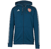 Arsenal 19/20 3 Stripe Zip Hoody