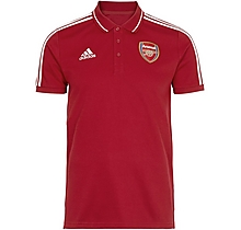 Arsenal 19/20 3 Stripe Polo Shirt