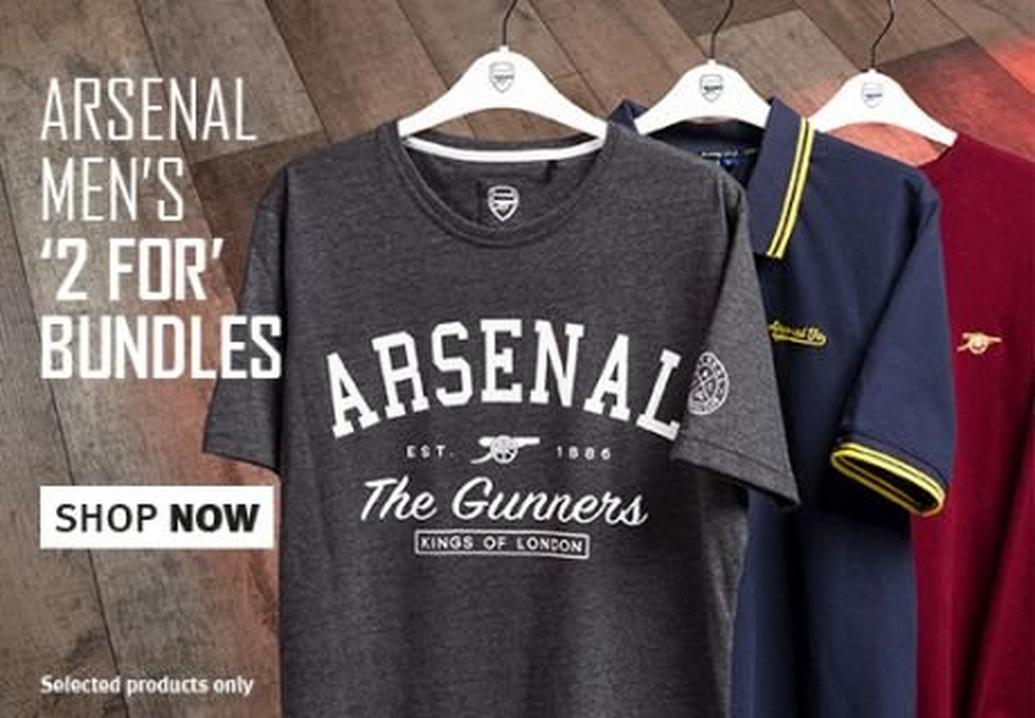 Arsenal 2 for 1 on men's bundles
