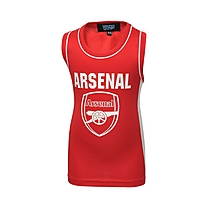 Arsenal Junior Red Panel Sleeveless T-shirt