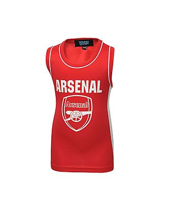 Arsenal Junior Red Panel Sleeveless T-shirt
