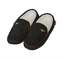 Arsenal Stitched Moccasin Slippers