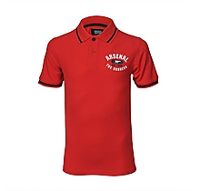 Arsenal Junior Red Graphic Polo Shirt