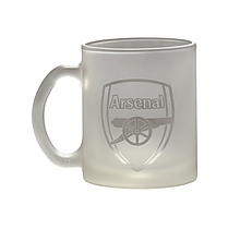 Arsenal Clear Glass Mug