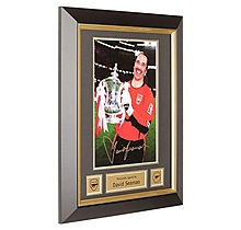 Arsenal Signed and Framed David Seaman 2003 FA Cup Final Print