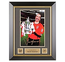 Arsenal Framed Signed David Seaman 2003 FA Cup Final Print