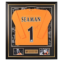 Arsenal Framed Signed David Seaman Shirt
