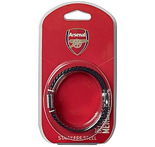 Arsenal Colour Stripe Crest Bracelet