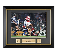 Ian Wright Framed signed FaCup V Sheff Wed Picture