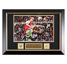 Bergkamp Signed Framed Flying Dutchman Photo