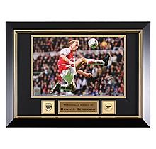Arsenal Framed Bergkamp Signed Flying Dutchman Photo